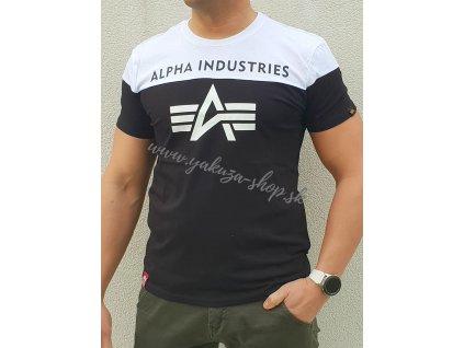 Alpha Industries CB T black tričko pánske d
