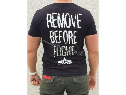 Alpha Industries RBF Moto T black tričko pánske