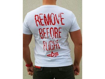 Alpha Industries RBF Moto T white tričko pánske