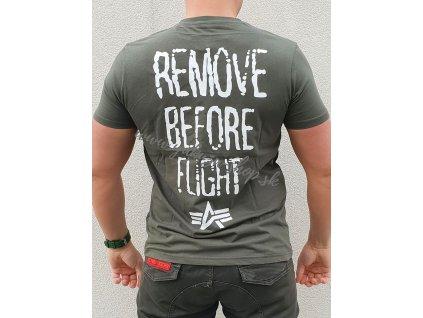 Alpha Industries RBF Moto T dark olive tričko pánske