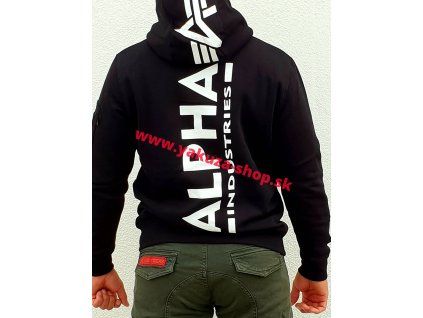Alpha Industries Back Print Hoody pánska mikina black