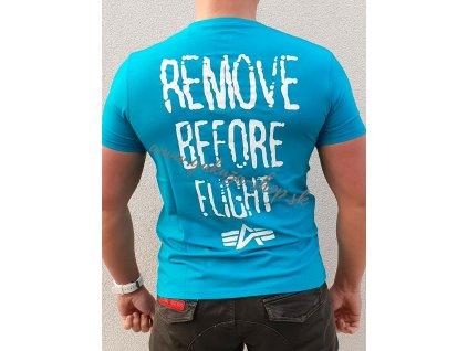 Alpha Industries RBF Moto T blue lagoon tričko pánske