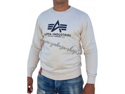 Alpha Industries mikina Basic Sweater jet streem white