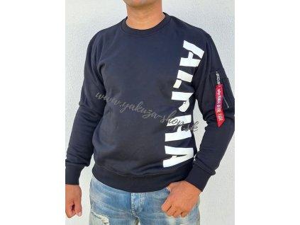 Alpha Industries SIDE PRINT Sweater black