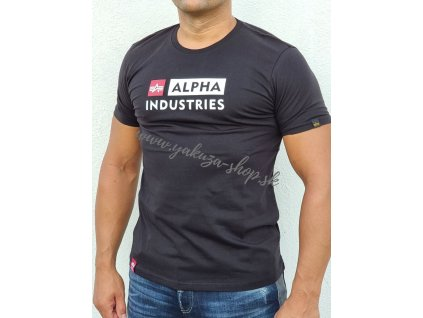 Alpha Industries BLOCK LOGO T tričko pánske black