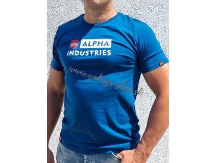 Alpha Industries BLOCK LOGO T tričko pánske naval blue