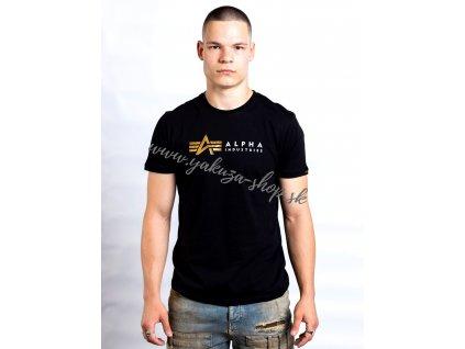 Alpha Industries LABEL T FOIL PRINT tričko pánske black 3