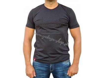 Alpha Industries EMBROIDERY tričko pánske black black