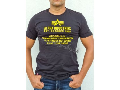 Alpha Industries ALPHA FUNDAMENTAL T tričko pánske black