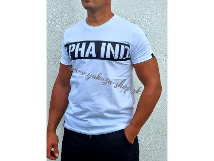 Alpha Industries Printed Stripe T white tričko pánske