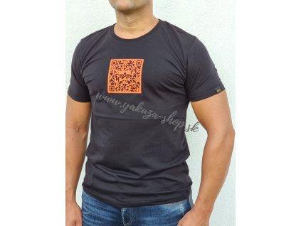 Alpha Industries QR CODE T tričko pánske black orange