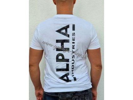 Alpha Industries BACKPRINT T white black camo tričko pánske