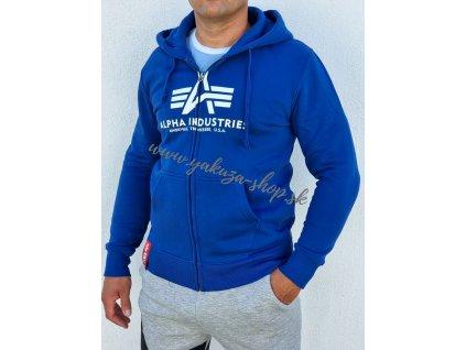 Alpha Industries Basic Zip Hoody pánska mikina nasa blue