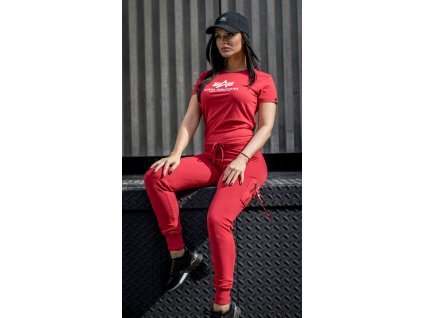 Alpha Industries New Basic T Wmn Speed Red dámske tričko