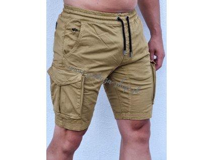 Alpha Industries Cotton Twill Jogger Short pánske šortky khaki