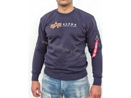 Alpha Industries LABEL Sweater rep blue