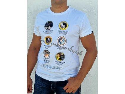 Alpha Industries Apollo Mission T tričko pánske white
