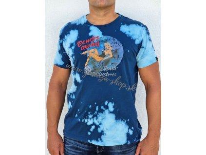 Alpha Industries Nose Art tričko pánske rep blue