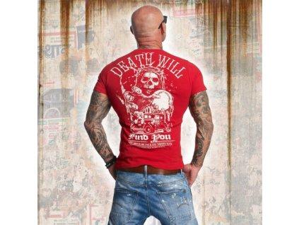Yakuza tričko pánske DEAD WILL FIND YOU TSB 11050 Ribbon red