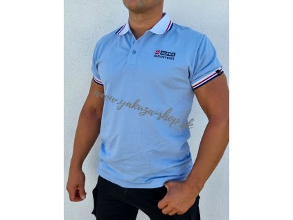 Alpha Industries Contrast Polo Light Blue tričko pánske