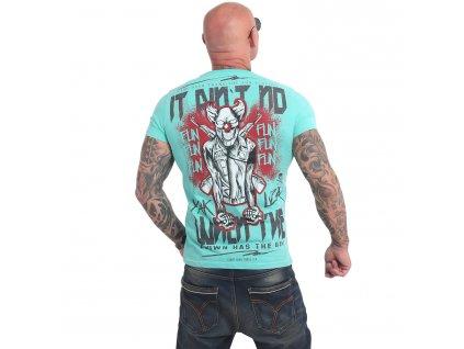 Yakuza NO FUN tričko pánske TSB 17032 turquoise