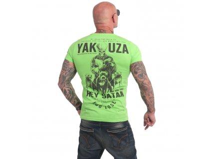 Yakuza HEY SATAN tričko pánske TSB 17023 jasmine green