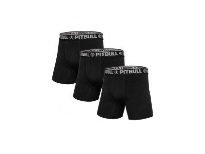 PitBull West Coast boxerky 3 ks v balení black