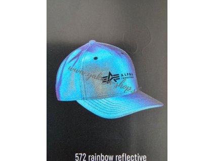 Alpha Industries ALPHA LABEL REFL CAP Cap šiltovka rainbow reflective