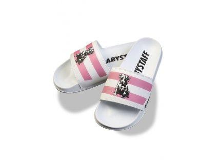 Babystaff šľapky Canis white pink