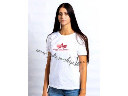 Alpha Industries New Basic T Wmn White Red dámske tričko