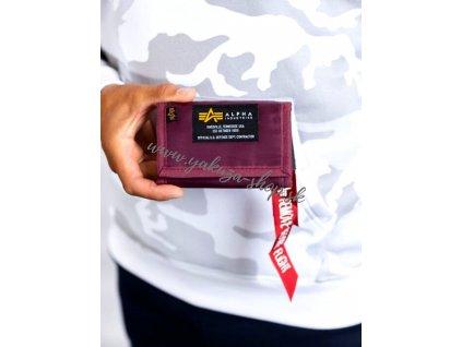 Alpha Industries Crew Wallet Burgundy peňaženka
