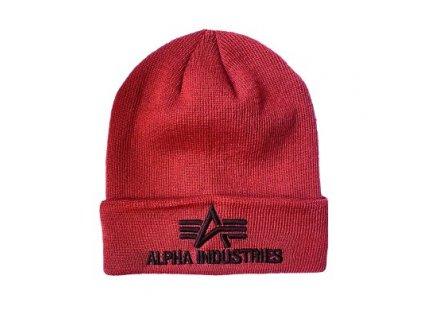 Alpha Industries 3D Beanie burgundy čiapka