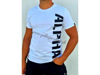 Alpha Industries SIDE PRINT T tričko pánske white
