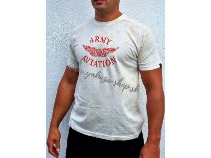Alpha Industries Vintage Aviaton T 18 red tričko pánske