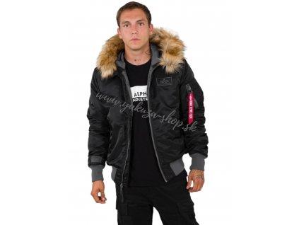 Alpha Industries Hooded CW zimná bunda black g