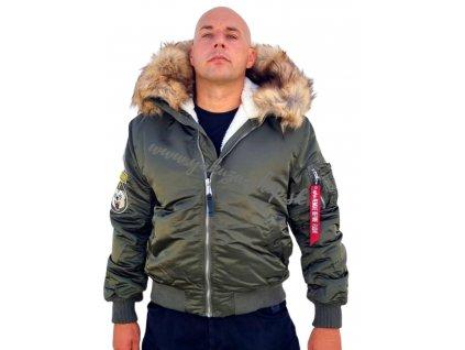 Alpha Industries zimná bunda MA 1 HOODED ARCTIC dark olive