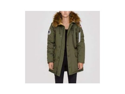 Alpha Industries Polar Jacket Wmn dámska zimná bunda dark green
