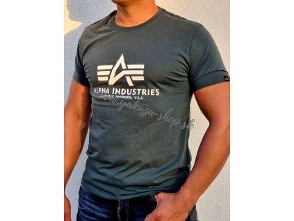 Alpha Industries Basic T Shirt Navy Green tričko pánske