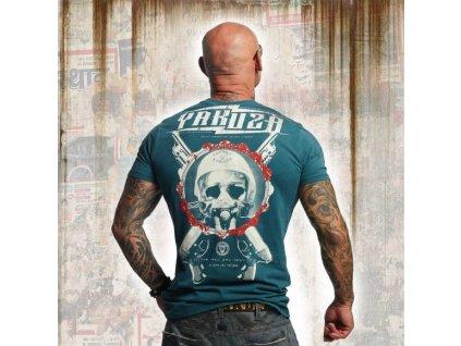 Yakuza tričko pánske HELMET SKULL TSB 11035 jasper