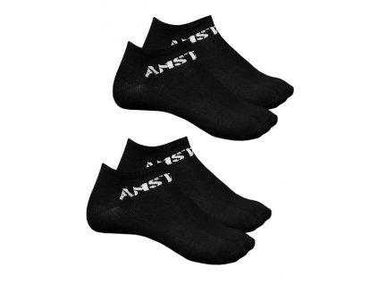 Amstaff ponožky MOKI 2 páry v balení black
