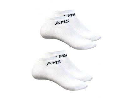 Amstaff ponožky MOKI 2 páry v balení white