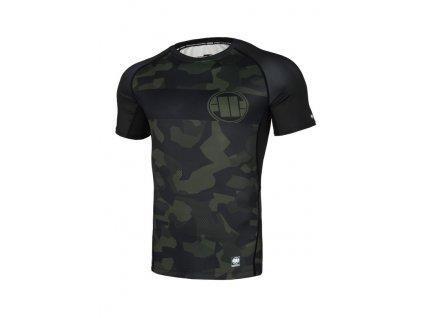 PitBull West Coast Rashguard tričko pánske DILLARD CASINO Performance Pro Plus black/olive