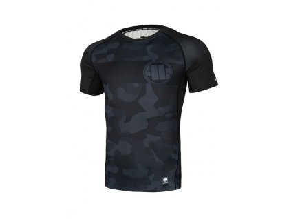 PitBull West Coast Rashguard Performance Pro Plus tričko pánske DILLARD CASINO black grey