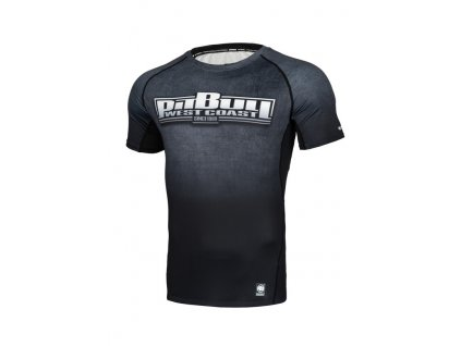 PitBull West Coast Rashguard Performance Pro Plus tričko pánske SCRATCH blackgrey