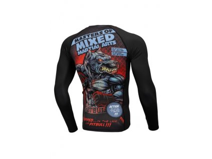 PitBull West Coast Rashguard tričko pánske s dlhým rukávom Performance Pro Plus MASTER OF MMA black