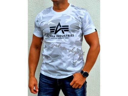 Alpha Industries Basic T Shirt Camo tričko pánske white camo