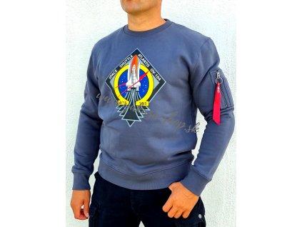 Alpha Industries Mission STS Sweater pánska mikina grey black