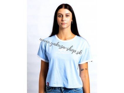 Alpha Industries Basic COS T Contrast ML Wmn light blue dámske tričko