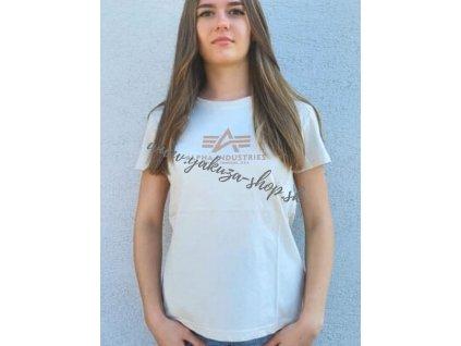 Alpha Industries New Basic T Wmn Vintage White Gold dámske tričko