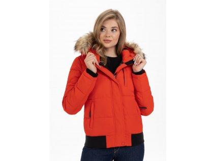 PitBull West Coast dámská zimná bunda FIRETHORN red
